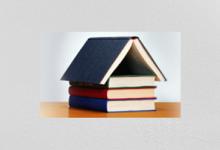 libros formando una casita